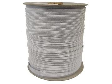 Guma tkané ploché oblečenie biele 7mm 100m 100pcs