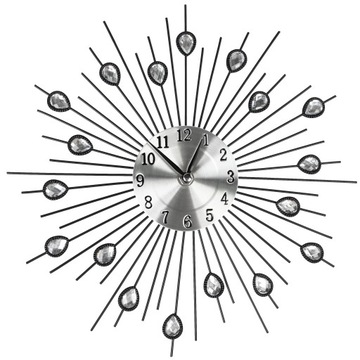 Nástenné hodiny Crystals Black 30cm