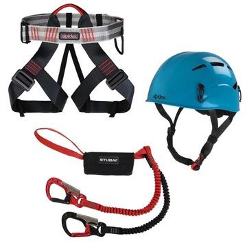 Sada lezeckej helmy zväzku Lonża cez Ferrata