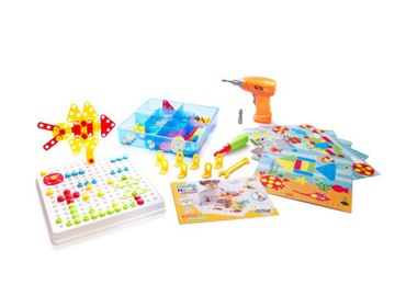 Skrutkovač Puzzle Cihly v kufri 6v1 261 el.