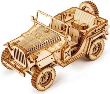 ROBOTIME Drevený 3D logický model vojenského džípu