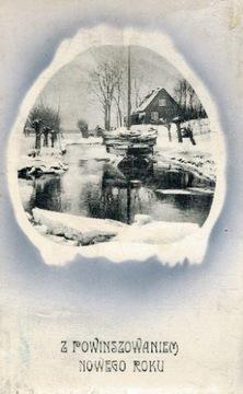 Pre-vojnová pohľadnica s veselý Vianoce