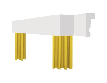 kryt záclonovej lišty kryt záclonovej lišty 15cm