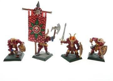 Warhammer Chaos Warriors Set 4 Figurines Metal