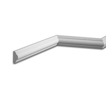 Biela SKIRTING WALL MD002 Mardom Decor, šírka 4 cm