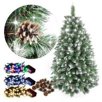 Vianočný strom umelý diamant borovica 180cm + zadarmo