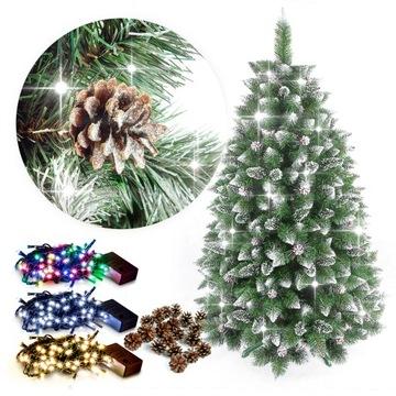 Vianočný strom umelý diamant borovica 220cm + zadarmo