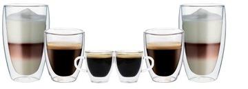 Termálne šálky Latte Coffee Espresso 6x