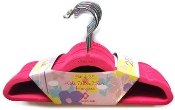 Semišové vešiaky 25ks na detské oblečenie Concepts