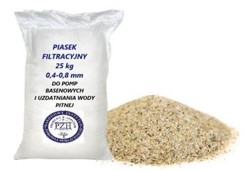 Quartz piesok pre bazénové čerpadlá 0.4-0,8 mm 25kg