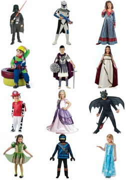 Halloween kostýmy / karnevalové kostýmy! A / B