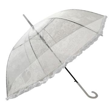 Hlboký transparentný dámsky dáždnik s fill