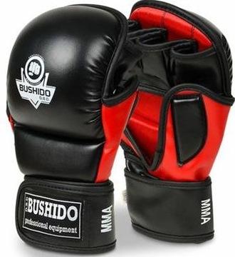 Bushido Rukavice pre MMA Sparring Black S / M