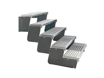 Modulárne, oceľové, kovové nastaviteľné schody