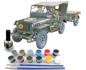 Auto Model Jeep Willys Poľská armáda Paint