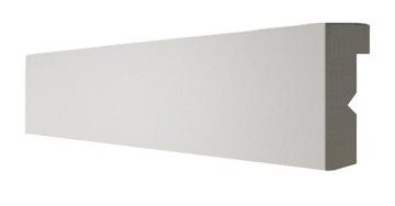 Kryt LED záclonovej tyče 13x5cm Kryt osvetlenia