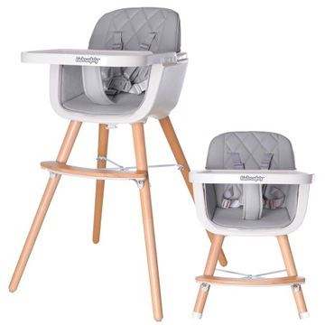 Drevená stolička 2N1 Automobilové sedadlo