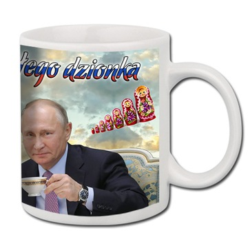 Biely hrnček vtipný darček pre putin čaj 01