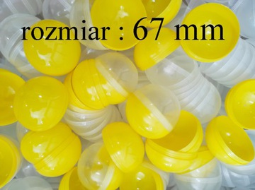 Kapsula prázdna 67mm žltá guľatá guľa 50 ks