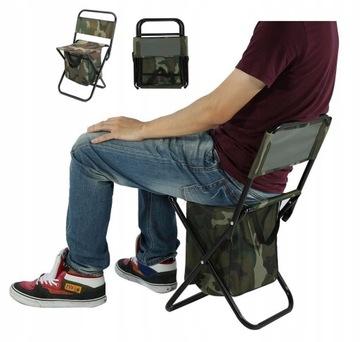 Vysoká stolička rybárska stolička s veľkou taškou