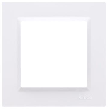 SIMON 10 Maskovací rámik jednoduchý, 1-násobný, biely