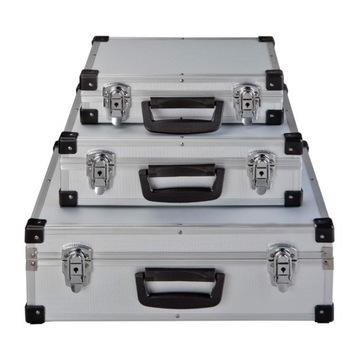 3ks hliníkový kufrík puzdra DJ vybavenie