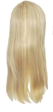 Parochňa dlhý rovný hrubý tuk prírodný blond 50cm