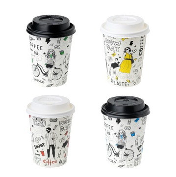 Kávové šálky 250ml 100 kusov + veko