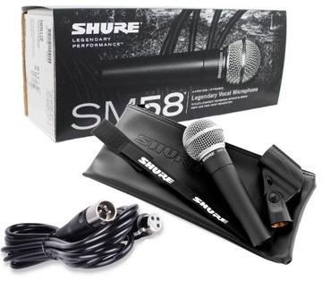 Shure SM 58 LCE VOCAL MICROFÓNY + kábel