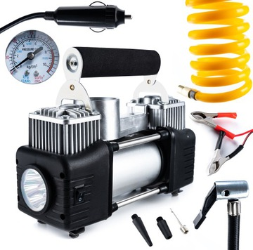 Automobilový kompresor pre kolesá čerpadlo 12V baterky