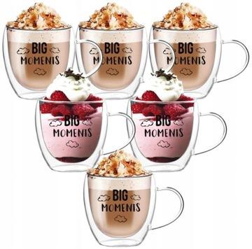 Termálne šálky na kávové čaju hrnčeky X6 250ml