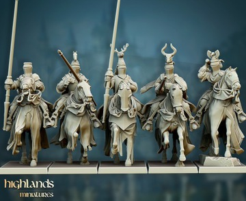 Grál Knights - Bretonnia - Highlands Miniatures