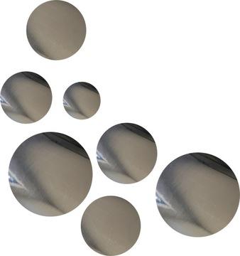 nálepky na stenu zrkadlo zrkadlový kruh 57 ks
