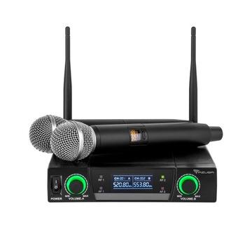 Dvojitý kanál UHF AZUSA JU-82 Bezdrôtový mikrofón