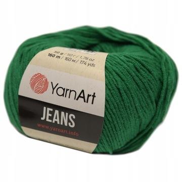 Yarnart džínsy priadze 52 tmavo zelená