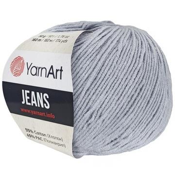 Yarnart priadze džínsy 50g bavlna akryl sivá 80