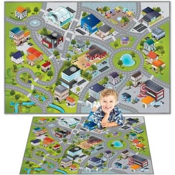KOBERCE MAT CITY ULICE CESTNÁ 3D EFEKT 100x150 CM