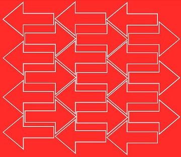 Nálepka šípky 7x4,5cm 42ks fv červená matná