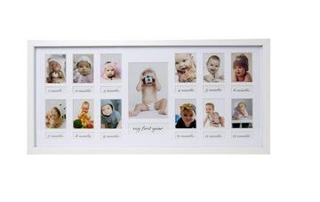 Fotografie rám multiramek prvý rok dieťaťa
