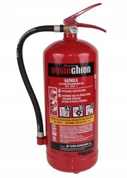 Auto prášok Požiarny hasiaci prístroj OGNIECHRON 6KG Bezpečnosť