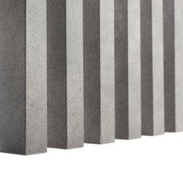 3D zvislé lamely na stenu BETÓNOVÉ stenové pásy