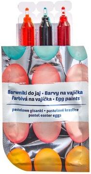 Pastelové farbivá tekutín veľkonočné vajíčka 3 farby