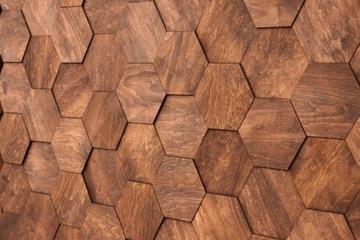 Drevené šesťhranné nástenné panely MOZAICKÝ PANEL M