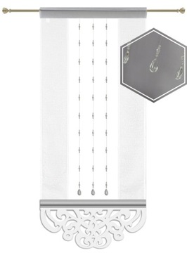 Obrazovka OPENWORK PANEL CURTAIN CRYSTALS AREUR BAD