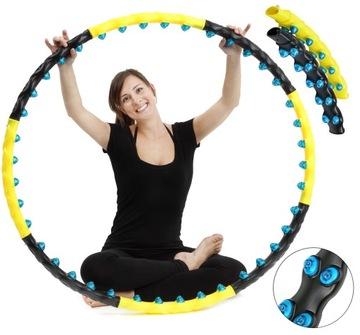 Chudnutie hula hop s skladacím masážnym strojom 110 cm
