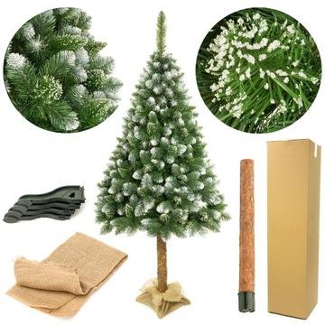 Vianočný strom umelý na kufri diamantovej borovicovej 160 cm