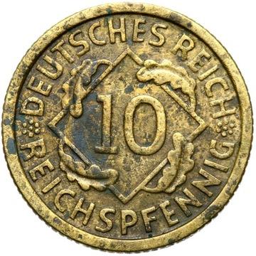 + Nemecko - Weimar - 10 Reichsspfennig 1931 g