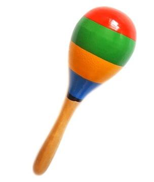 Maracas Drevený veľký nástroje snahok 20 cm