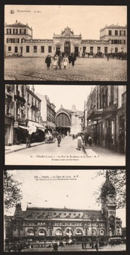 Železničné stanice Francúzsko. 6 ks 1915, 192-?