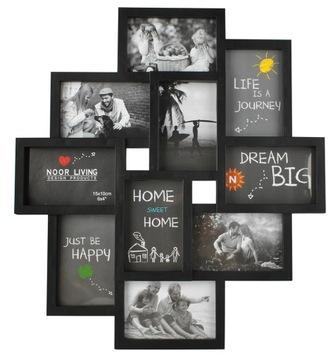 3D rám veľký multi rám na fotografiách čiernych fotografií